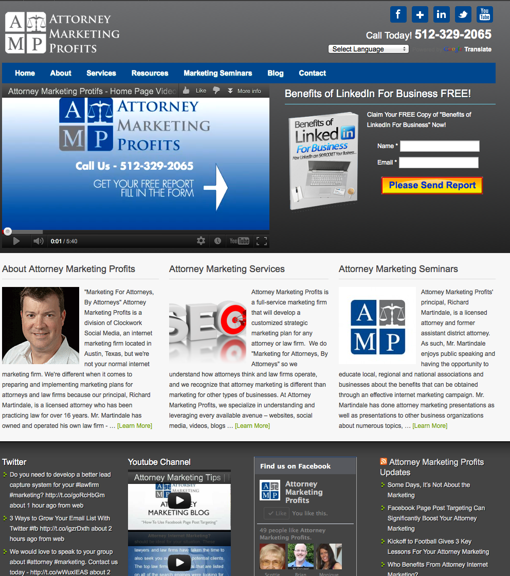 Attorney Marketing Website Design Website Design Gallery