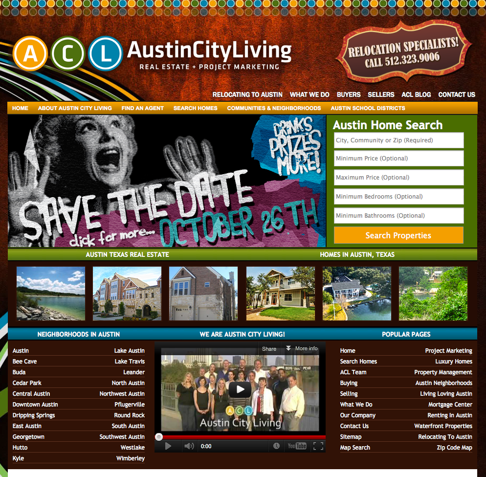 Austin City Living Website Design Website Design Gallery