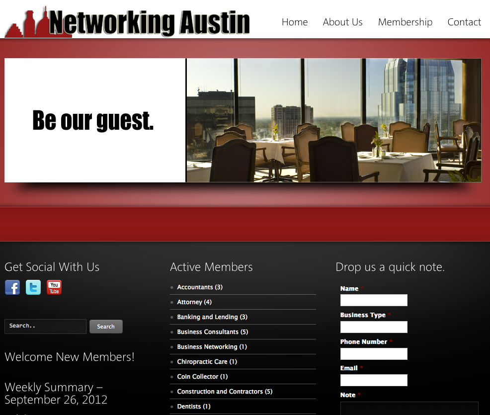 Networking Austin Website Design Website Design Gallery